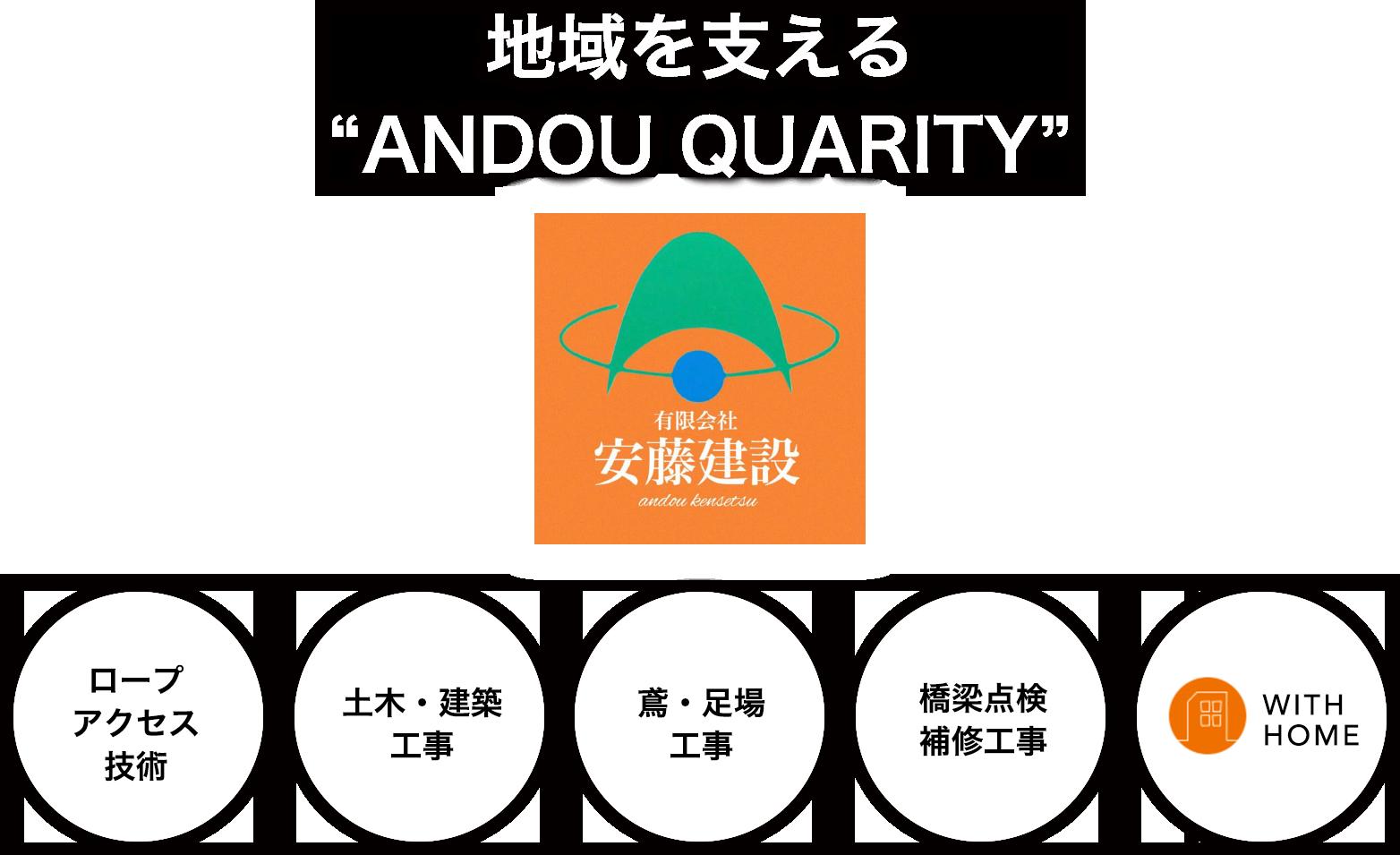 地域を支える ANDOU QUARITY
