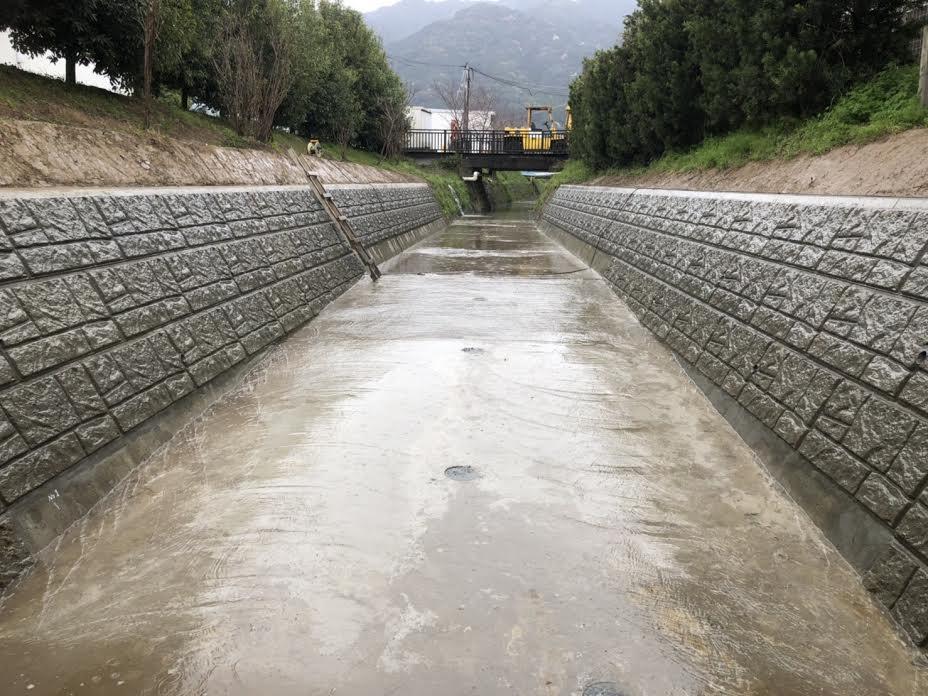 O排水路改修工事